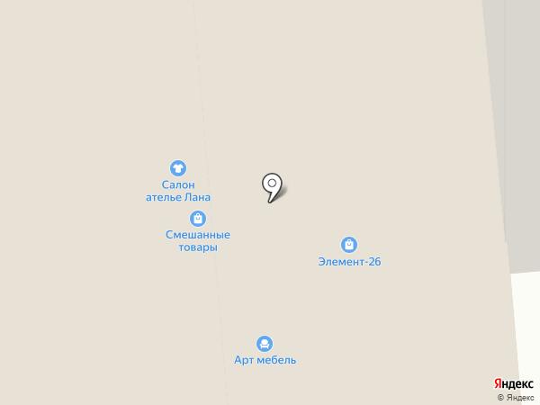 Магазин текстиля и швейных машин на карте Железногорска