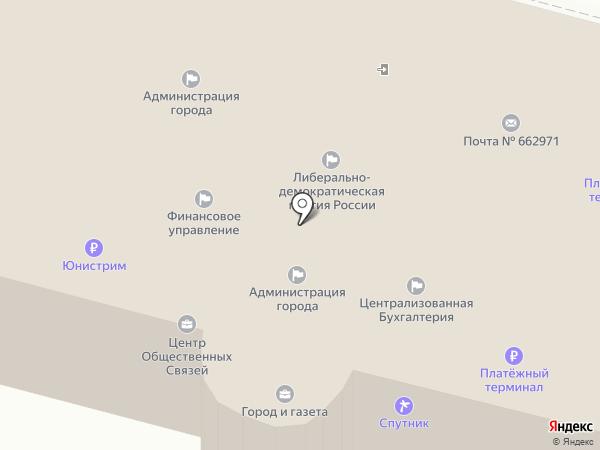 Совет депутатов г. Железногорска на карте Железногорска