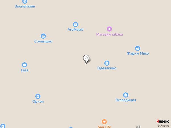 Паутина на карте Железногорска