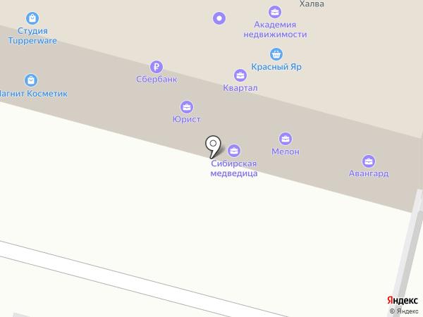 Красный Яр на карте Железногорска
