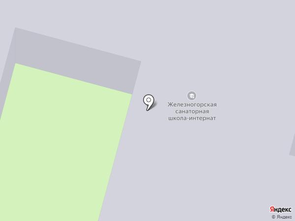 Железногорская общеобразовательная школа №1 на карте Железногорска