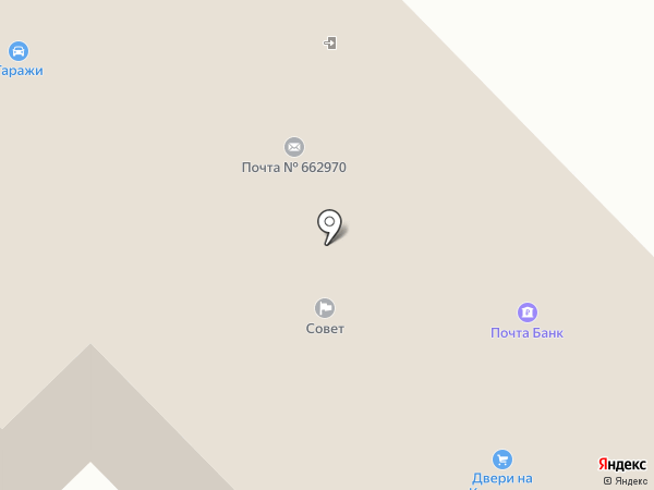 Железногорский почтамт на карте Железногорска