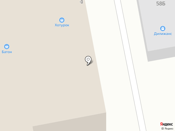 Батон на карте Железногорска