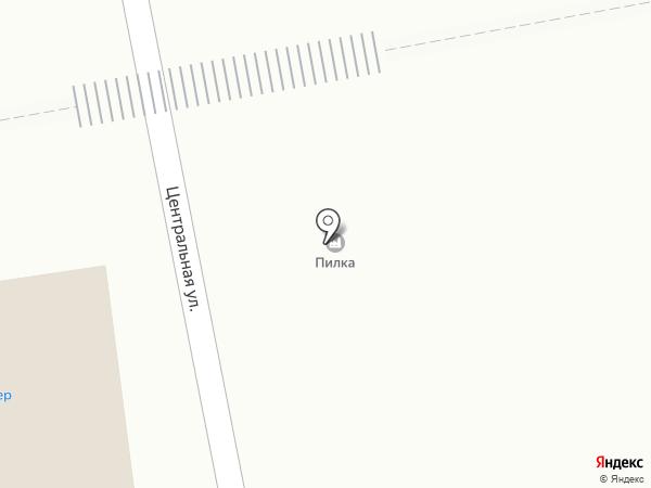 Краснореченское на карте