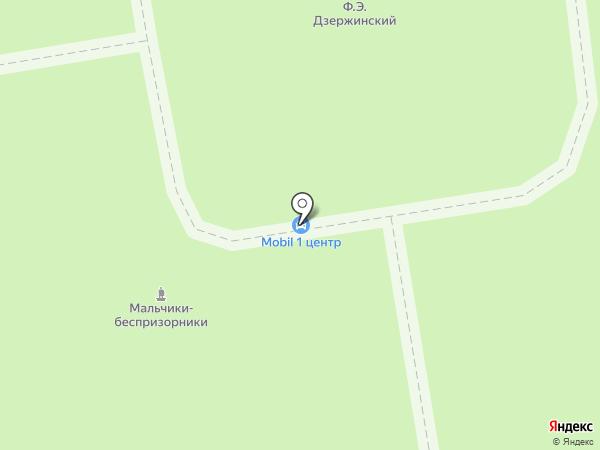 Дзержинск на карте