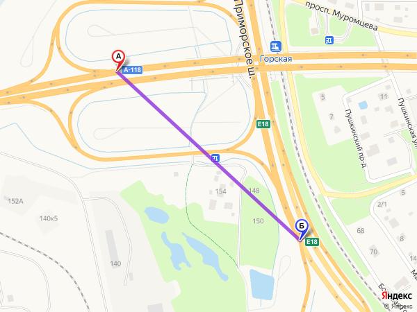 съезд направо 890м за 1мин