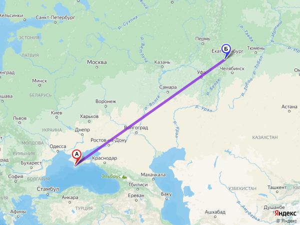 Полный путь от Бахчисарая до Полевского