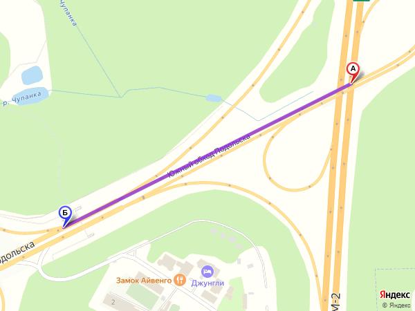 съезд направо 1,1км за 2мин