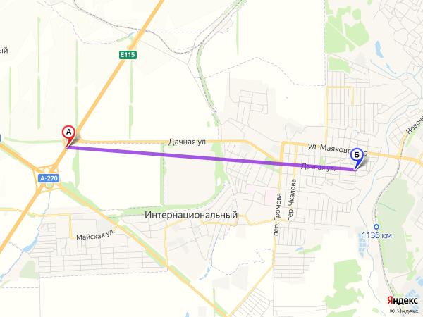 съезд направо 5,4км за 8мин