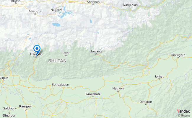 Map of Thimpu, Bhutan