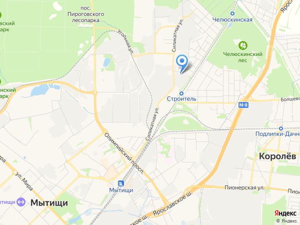 схема проезда на склад в Мытищах