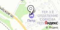 Петр на карте