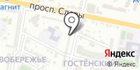 Левобережье на карте