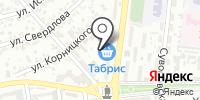 Табрис на карте