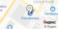 Красный тягач на карте