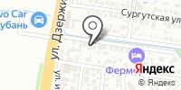 Руд на карте