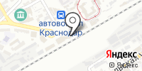 Железнодорожный вокзал Краснодар-1 на карте