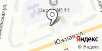 Северный рабочий на карте
