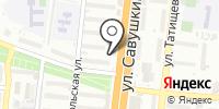 Иголка и нитка на карте