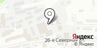 Красноярский лес на карте
