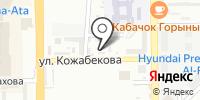 Шиномонтажная мастерская на Кожабекова на карте