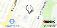 Автостоянка на ул. Свечникова на карте