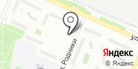 Автостоянка на ул. Родники на карте