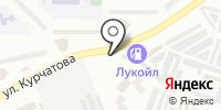 Автостоянка на ул. Курчатова на карте