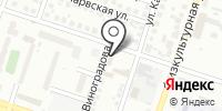 Красный факел на карте