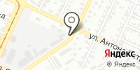 Автостоянка на Антона Петрова на карте