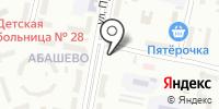 Абашевская на карте