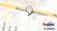 Хонда на Московском на карте