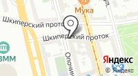 Синий крест на карте