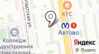 В Автово на карте