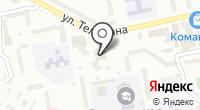 Магазин канцелярских товаров на ул. Тельмана на карте