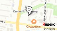 Владимирское на карте