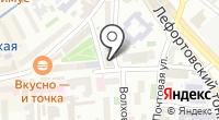 Лефортово на карте