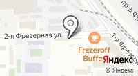 Шиномонтажная мастерская на Фрезерной 2-й на карте