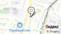 Мелфон на карте