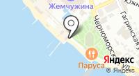 Магазин пляжной одежды на карте