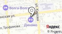 Астрахань-печати на карте