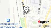 Территориальная организация профсоюза железнодорожников и транспортных строителей на Астраханском отделении ПЖД на карте