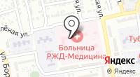 Отделенческая больница на станции Астрахань-1 на карте