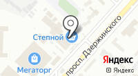 Степной на карте
