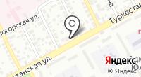 Продуктовый магазин на Туркестанской на карте