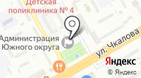Вечерний Оренбург на карте