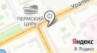 Камский на карте