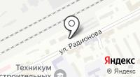 Автостоянка на Радионова на карте
