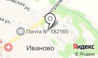 Почтовое отделение ИВАНОВО на карте