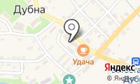 Почтовое отделение ДУБНА на карте
